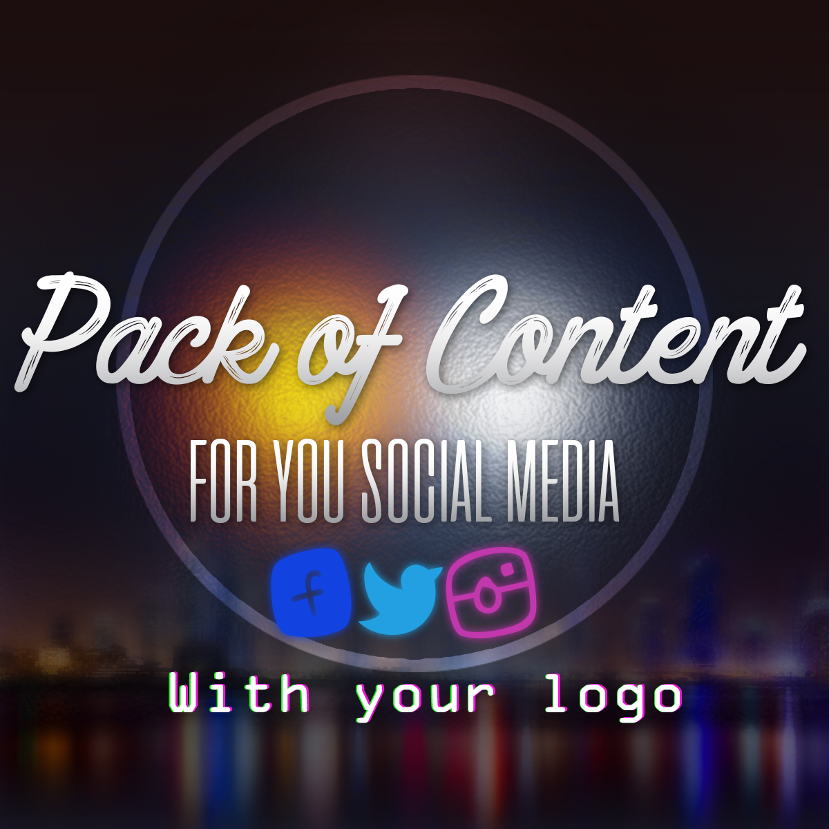 Create Pack Of Post For You Social Media With Your Lo...