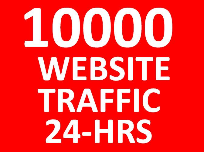 10,000  Website Traffic in 24 HRS