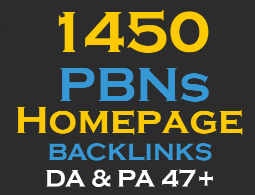 1450 web 2.0 Permanent Homepage Backlinks - Manual work