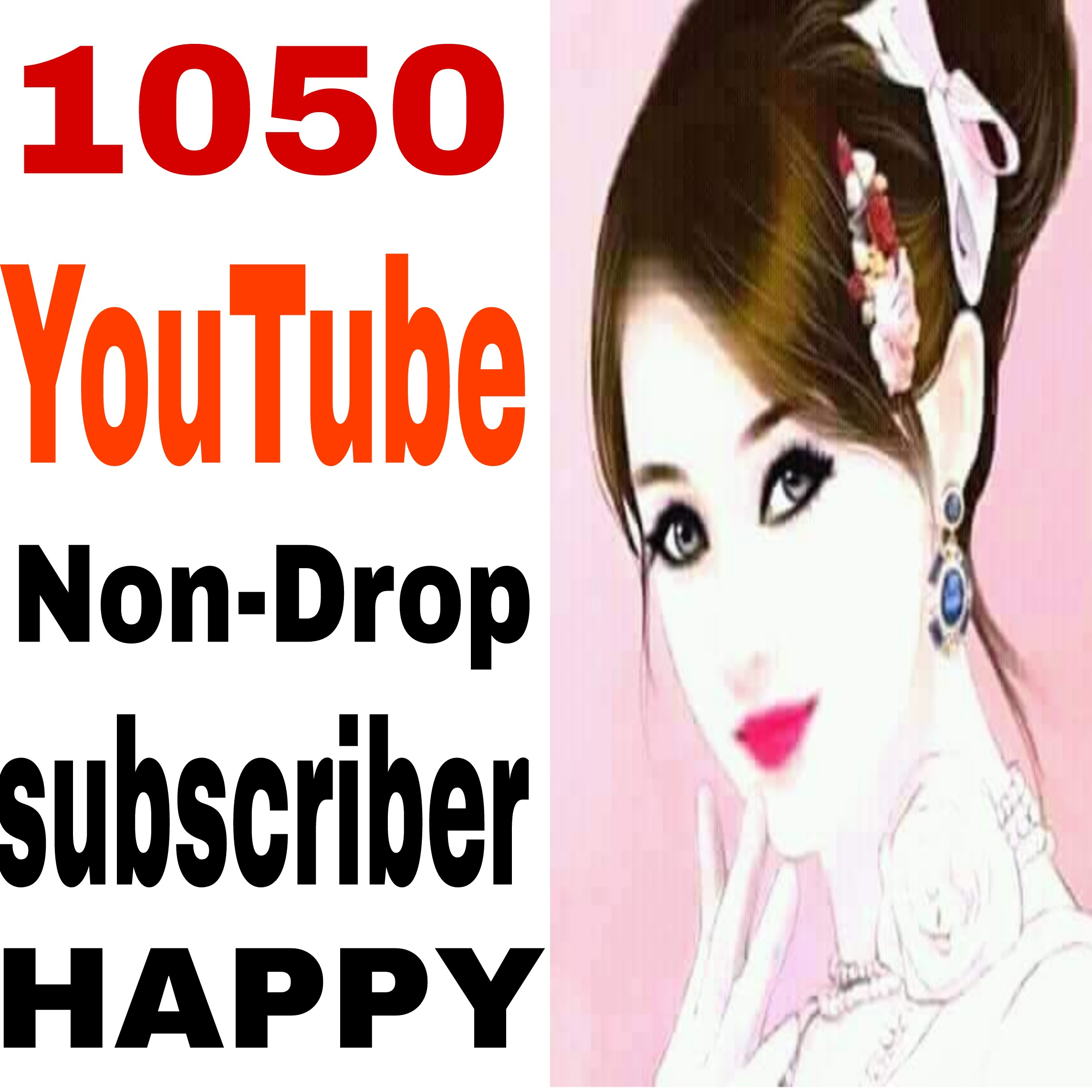 Real NON-DROP 1k/1050  channel Sub-Ccriber  very fast delivery 10 hours complete