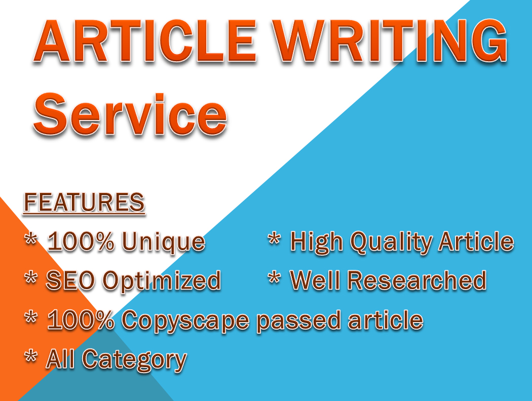 500+ words article writing Recommended for SEO