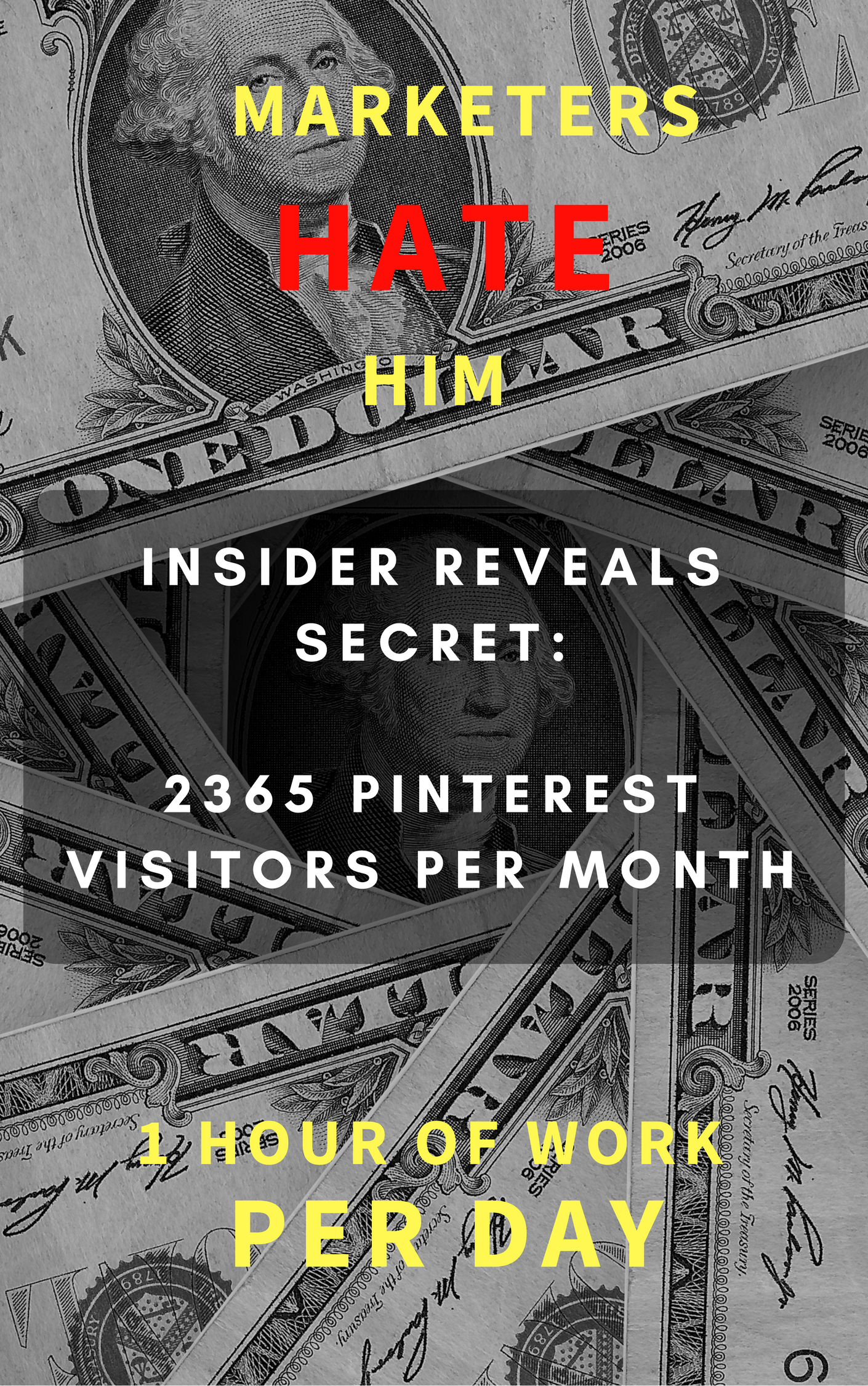 Teach You To Get 2365 Pinterest Traffic Per Month