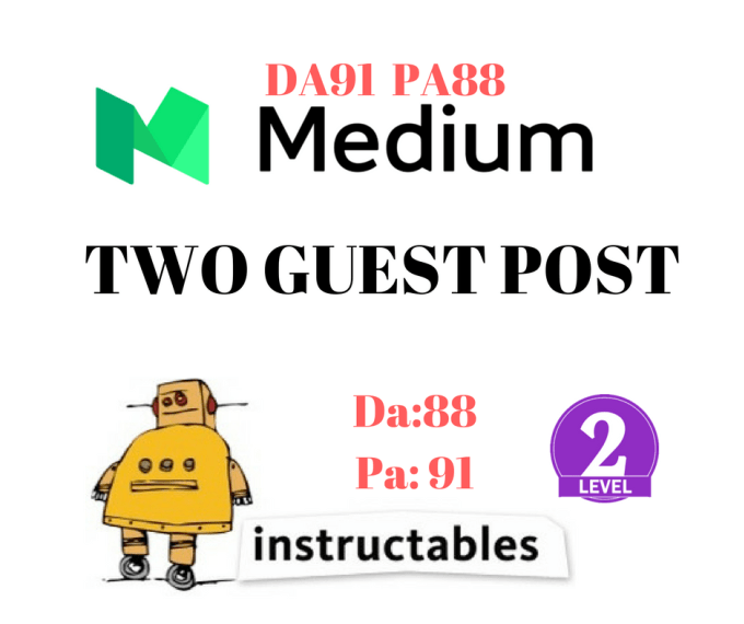 publish a guest post on medium and instructables