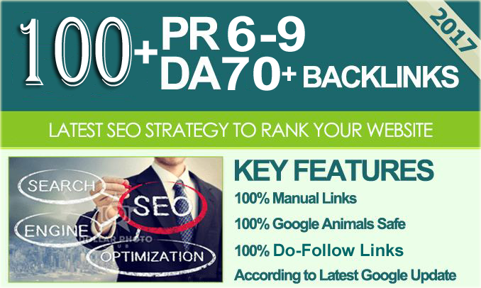 Manually Link Building 100+ High PR6 - PR9 Safe SEO Authority Backlinks