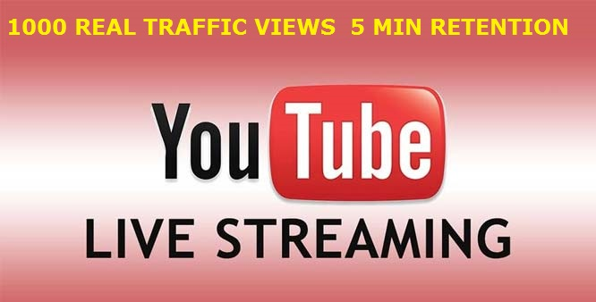 I PROVIDE 1000 REAL TRAFFIC YOUTUBE LIVE STREAMING