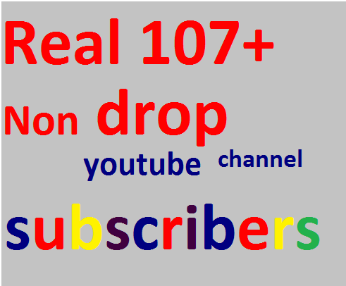 Brand service 111+Non drop youtube subscribers only for