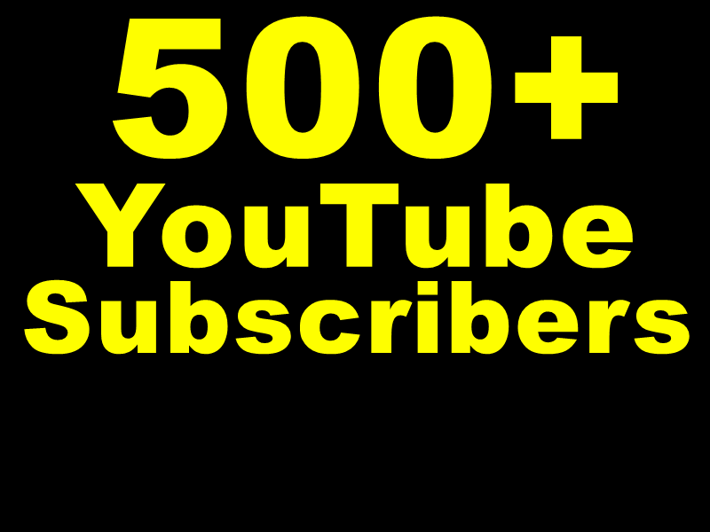 Get 1000+ You+Tube Likes Or 500+ You+Tube Subscribers Actual Physically Added