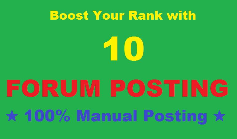 Do 10 HQ Forum Posting Backlink