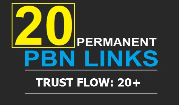 20 Manual High TF CF DA PA 30+ to 30 Dofollow PBN Backlinks  With 500 2nd Tiers