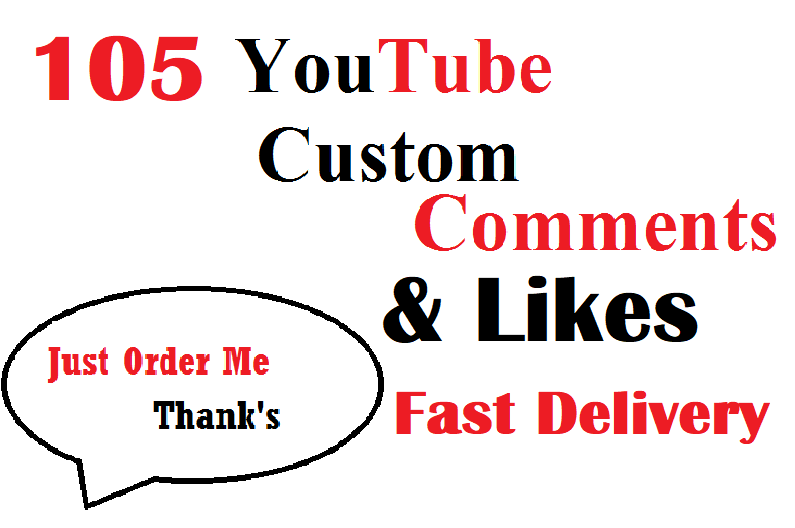 105+ YouTube Custom comments With  Super Fast Delivery