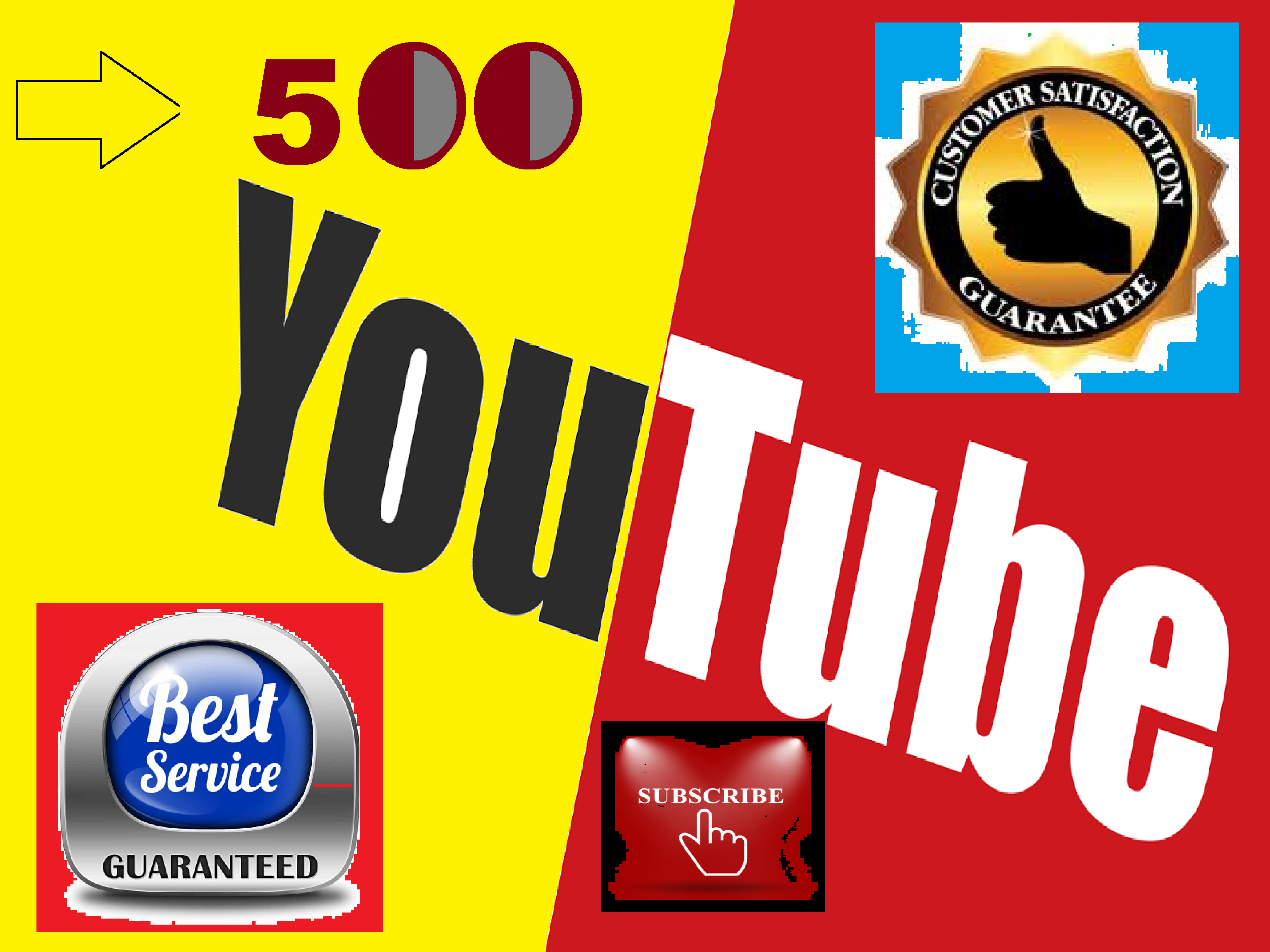 Get 500 High Quality Non Drop uTube Subscribers Fully safe Guarantee
