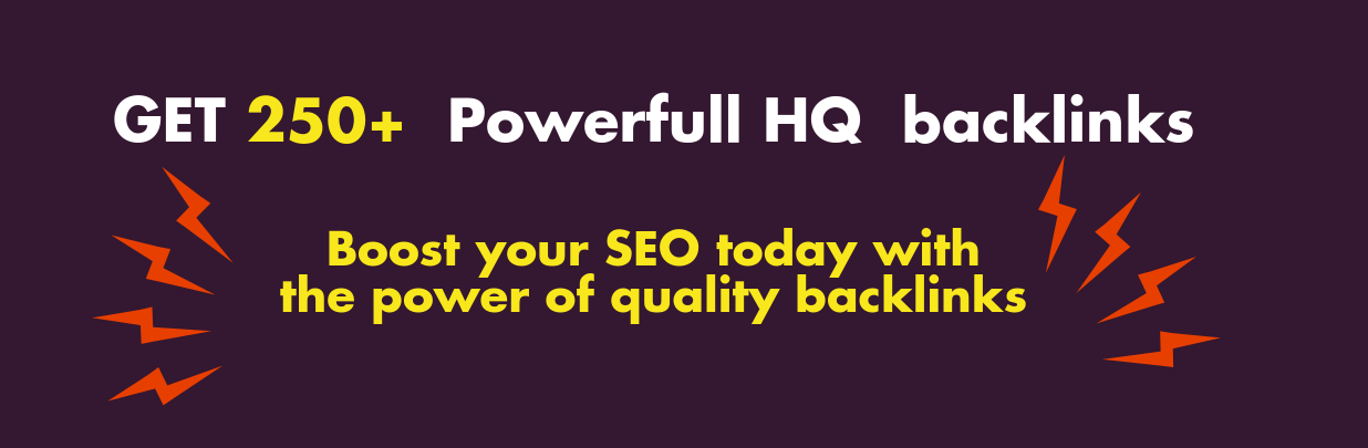 First Time Get 250 Powerful HQ Links From High DA sites