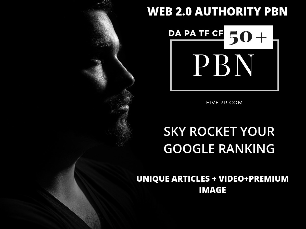 Rank Your Website With Quality  web 2.0 Pbn Network DA  PA 50+