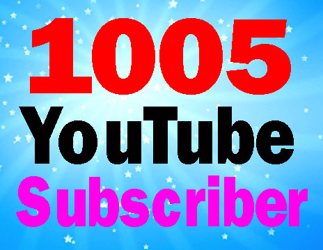 Guaranteed 1005 sub-scribers fully safe and non drop 24-48 hours order complete