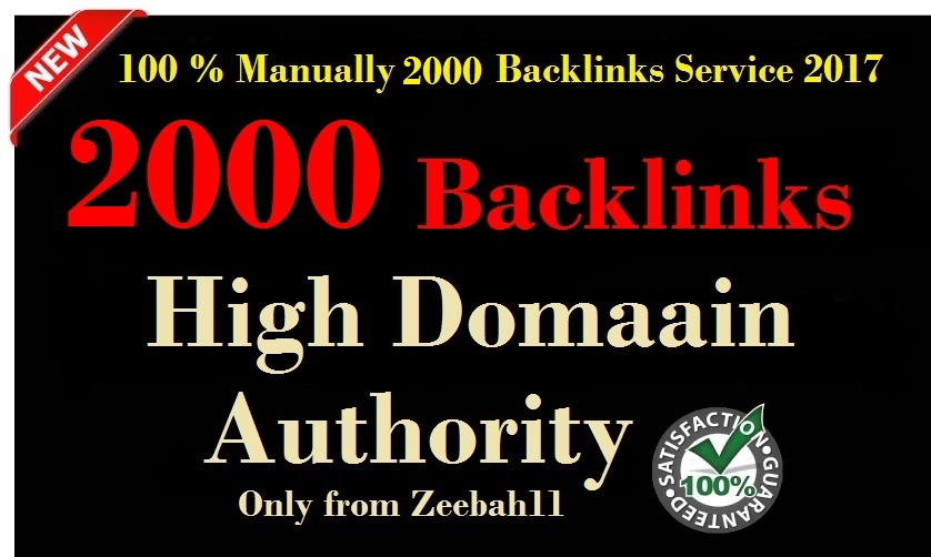 Create 2000 DA30+ Manully Dofollow,  High Quality Backliinks