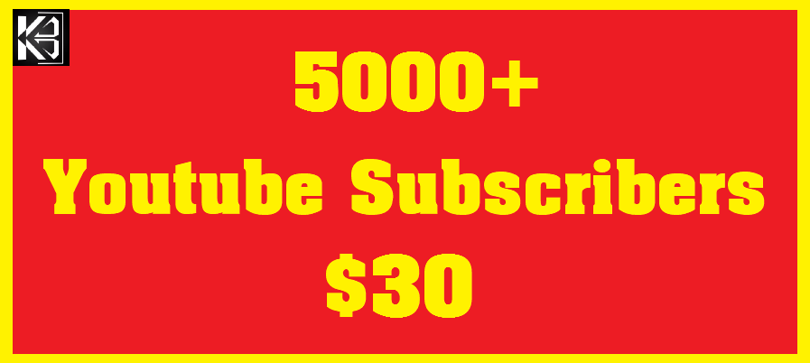 5000+ Youtube Subscribers Real & Non Drop
