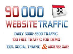 DRIVE 90,000 SUPER TARGETED WEBSITE TRAFFIC