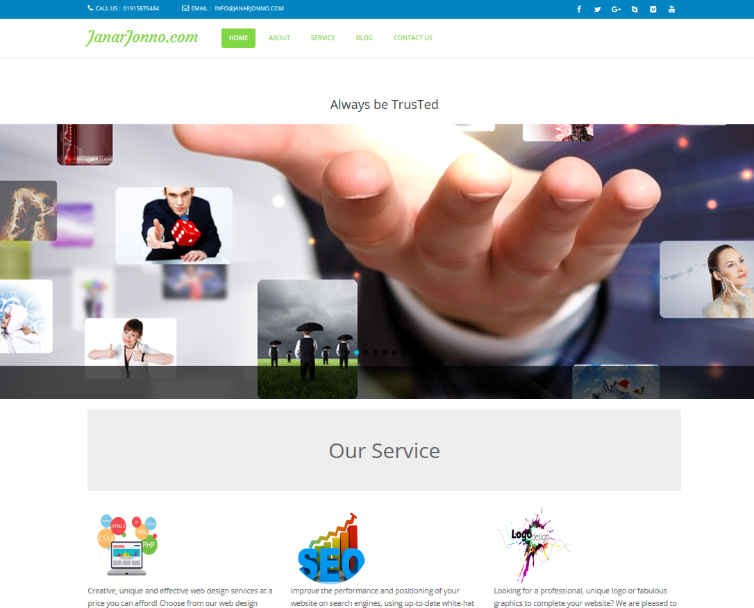 Create Professional Wordpress Website Responsive & Custom Design with best servic