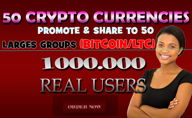 promote and share to 5 cryptocurrency largest related groups