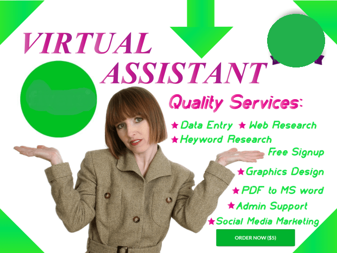 be your virtual assistant or admin support
