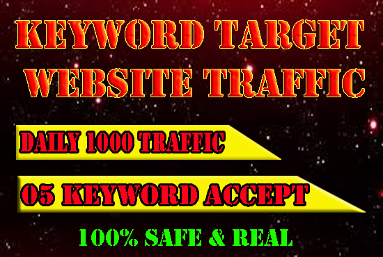 UNLIMITED KEYWORD TARGET REAL WEBSITE TRAFFIC