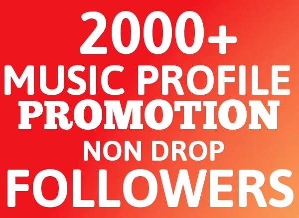 Real Super Instant 2000+ Followers Music Promotion