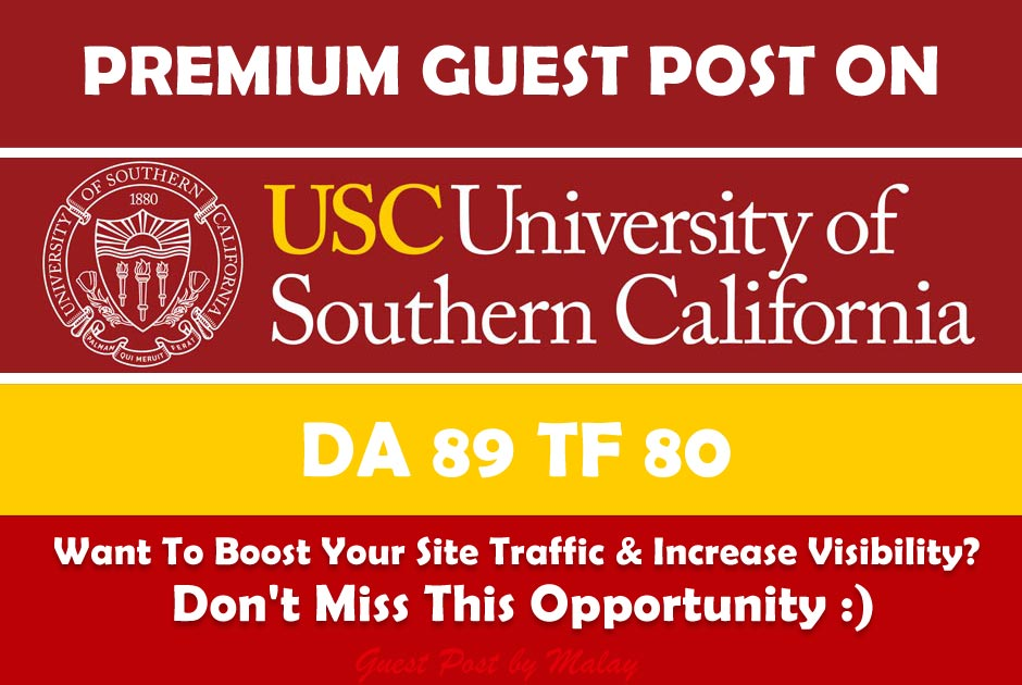 Guest Post On California Edu University Blog Usc.Edu DA89