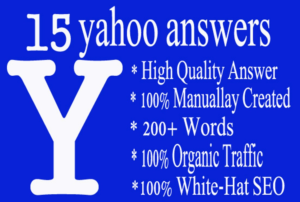 promote and boost your Business link by 15 Yahoo Answering from level 4 account