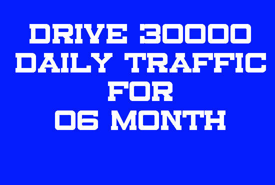 Drive 30000 daily traffic for 06 month