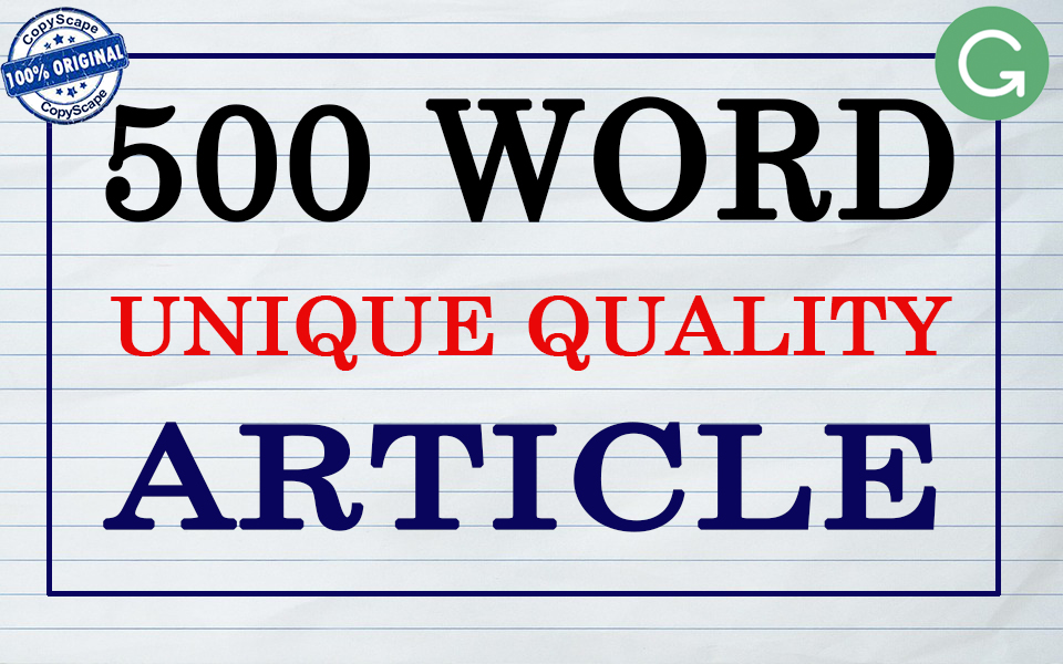 Write 500 Word Unique High Quality Product Review Article
