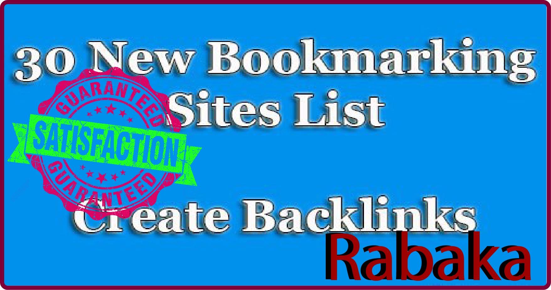 30 bast social bookmarking manually your website guarantee