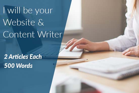 Write 2 Original SEO Articles Each 500 Words