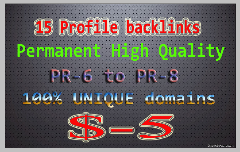 20 high quality PR6 to PR8 High PA, DA backlinks