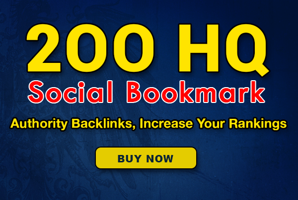 200+ SEO HQ social bookmarks to your site, rss, ping for $10