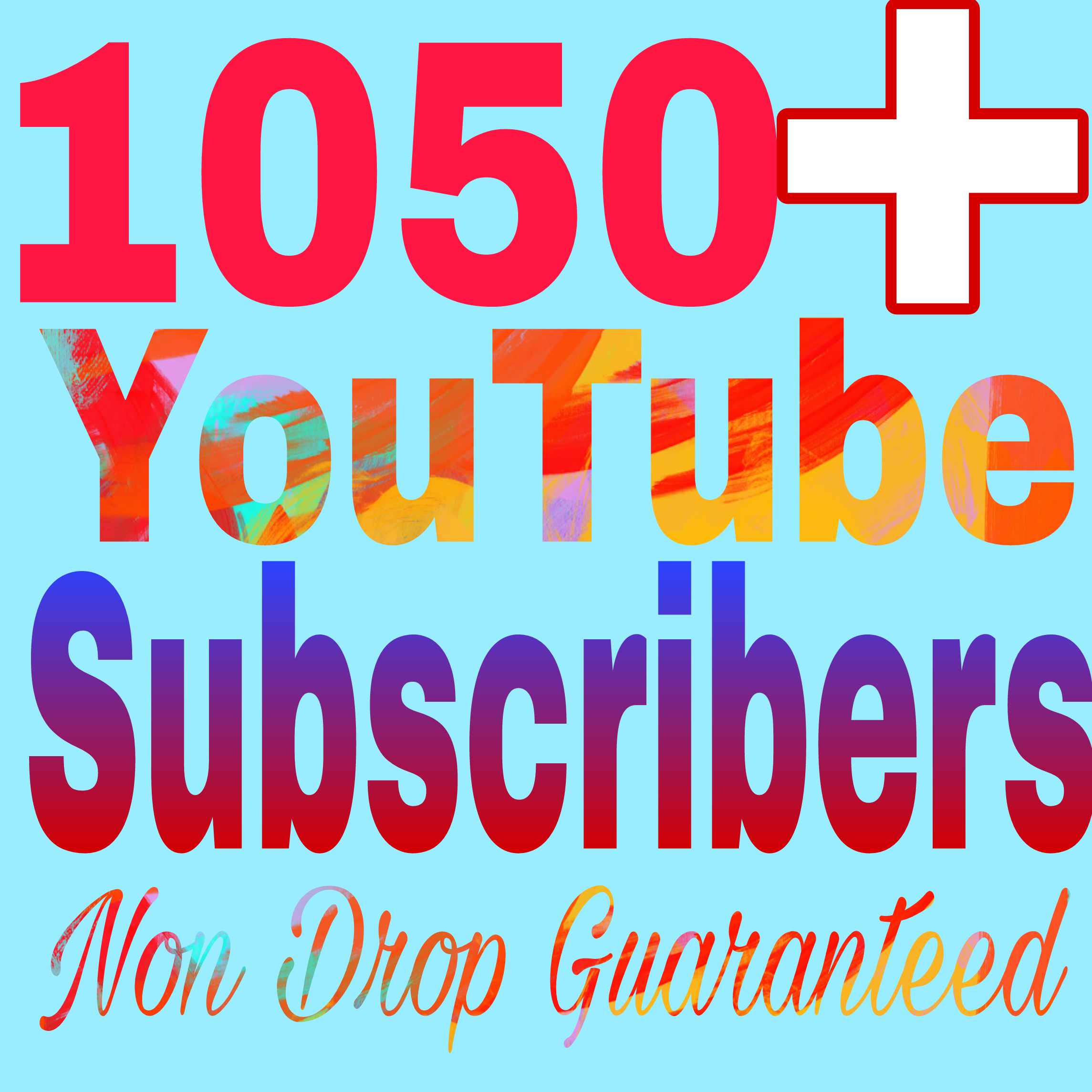 Special offer 1050+ Non Drop chann el subs+criber very fast delivery within 2-8hours