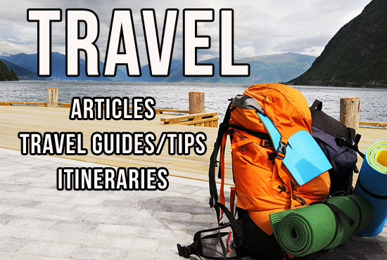 Write Travel Article, Itineraries, Stories