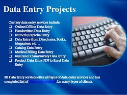 Data entry projects give you