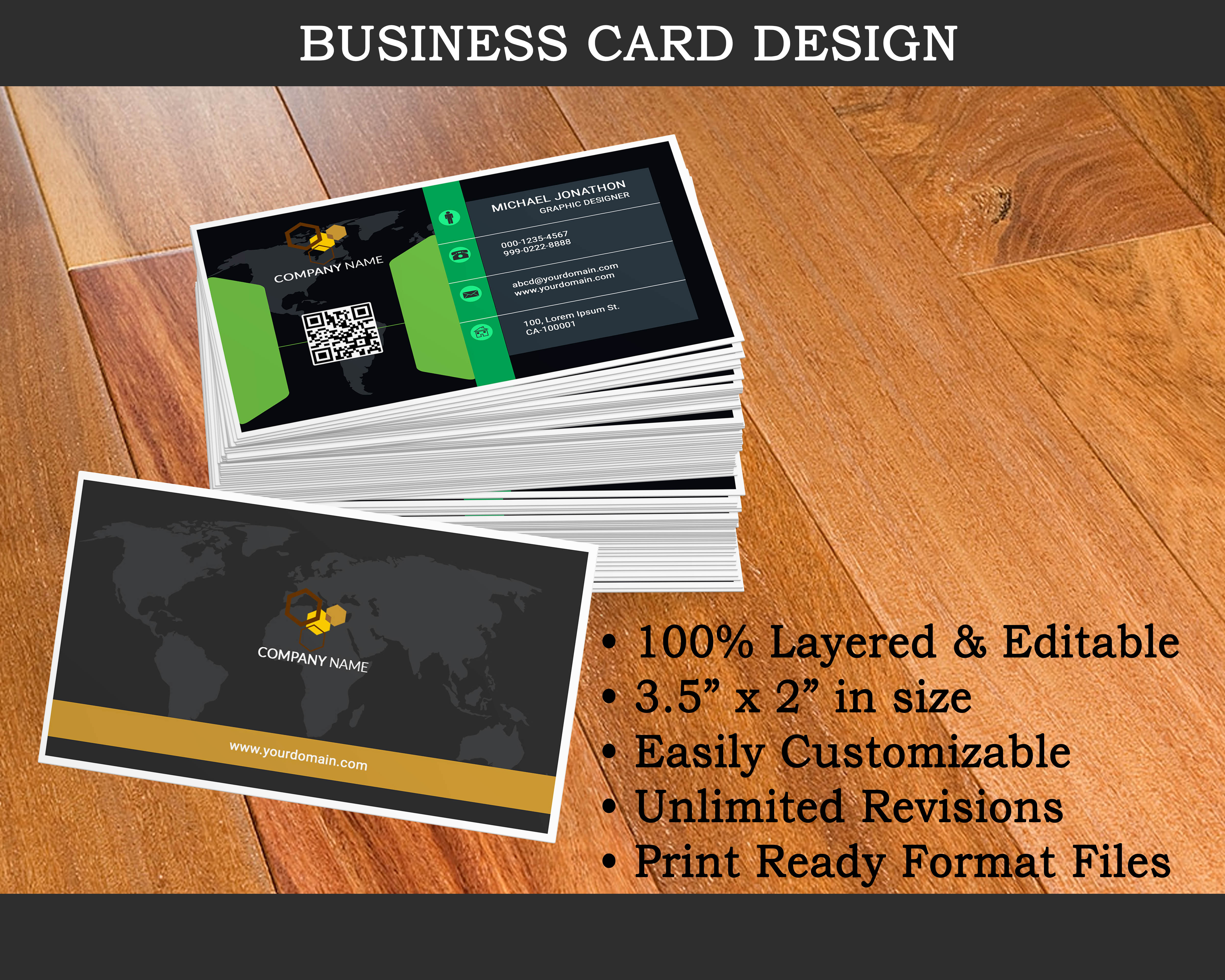 Get unique Double Sided Business Card and Letterhead