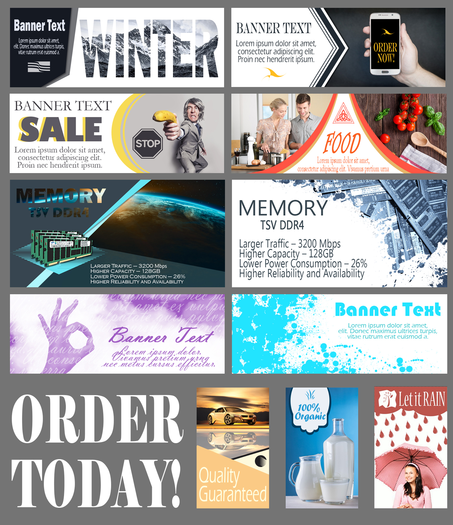 MODERN WEB BANNER for any business