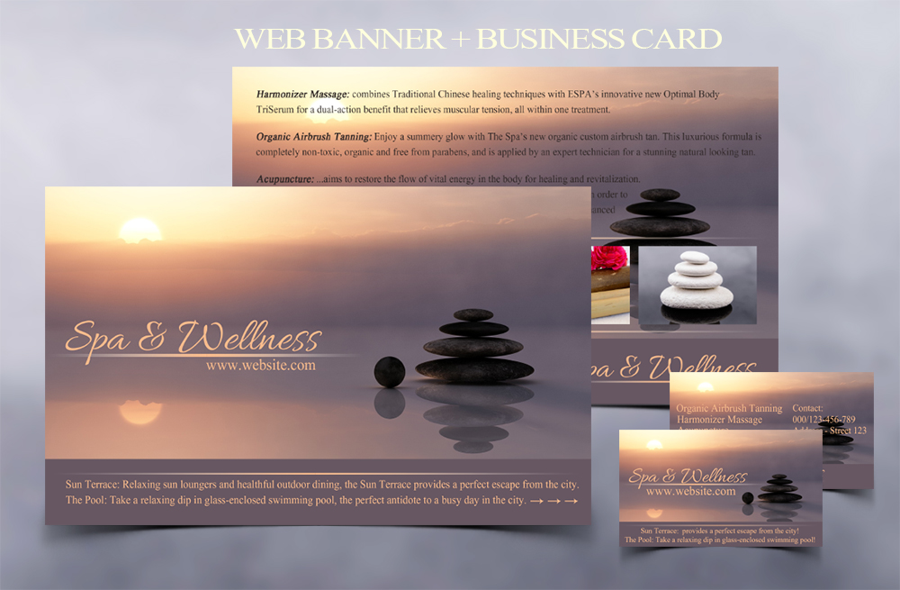 Beautiful wellness and spa Banner for your business - I will add your text here