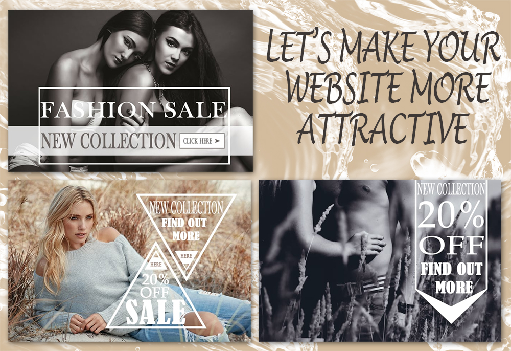 Let's make your WEBSITE more ATTRACTIVE! Best banners for your site!