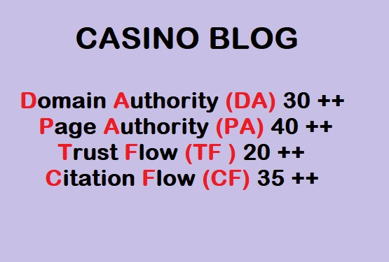 Guest Post on High-Quality CASINO blog
