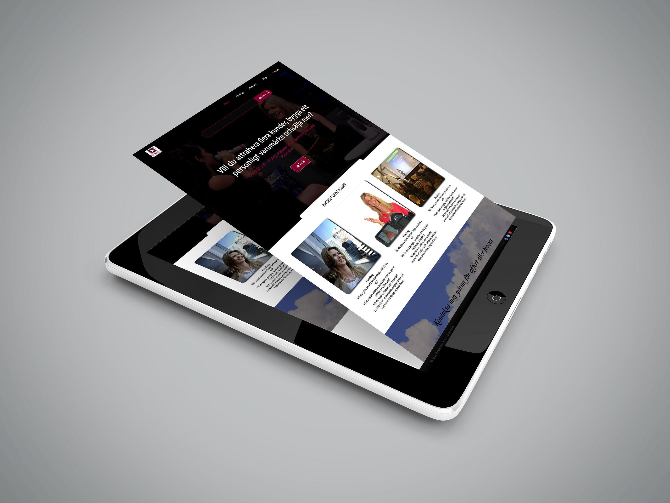 I Want to Design Your Website Mockup
