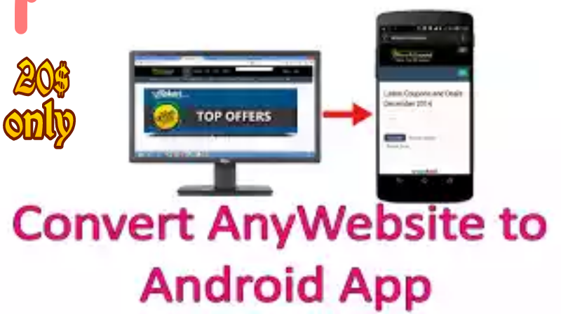Converted any website into an Android App