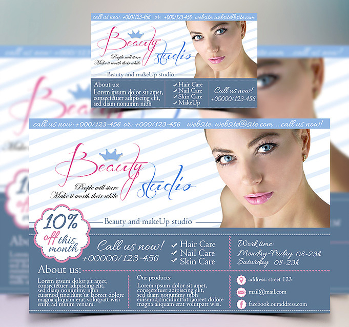 Free business card + Banner - I will add your text he...