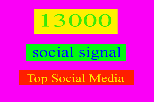 Best Offer 13000 Manually Top Seo Social Signals