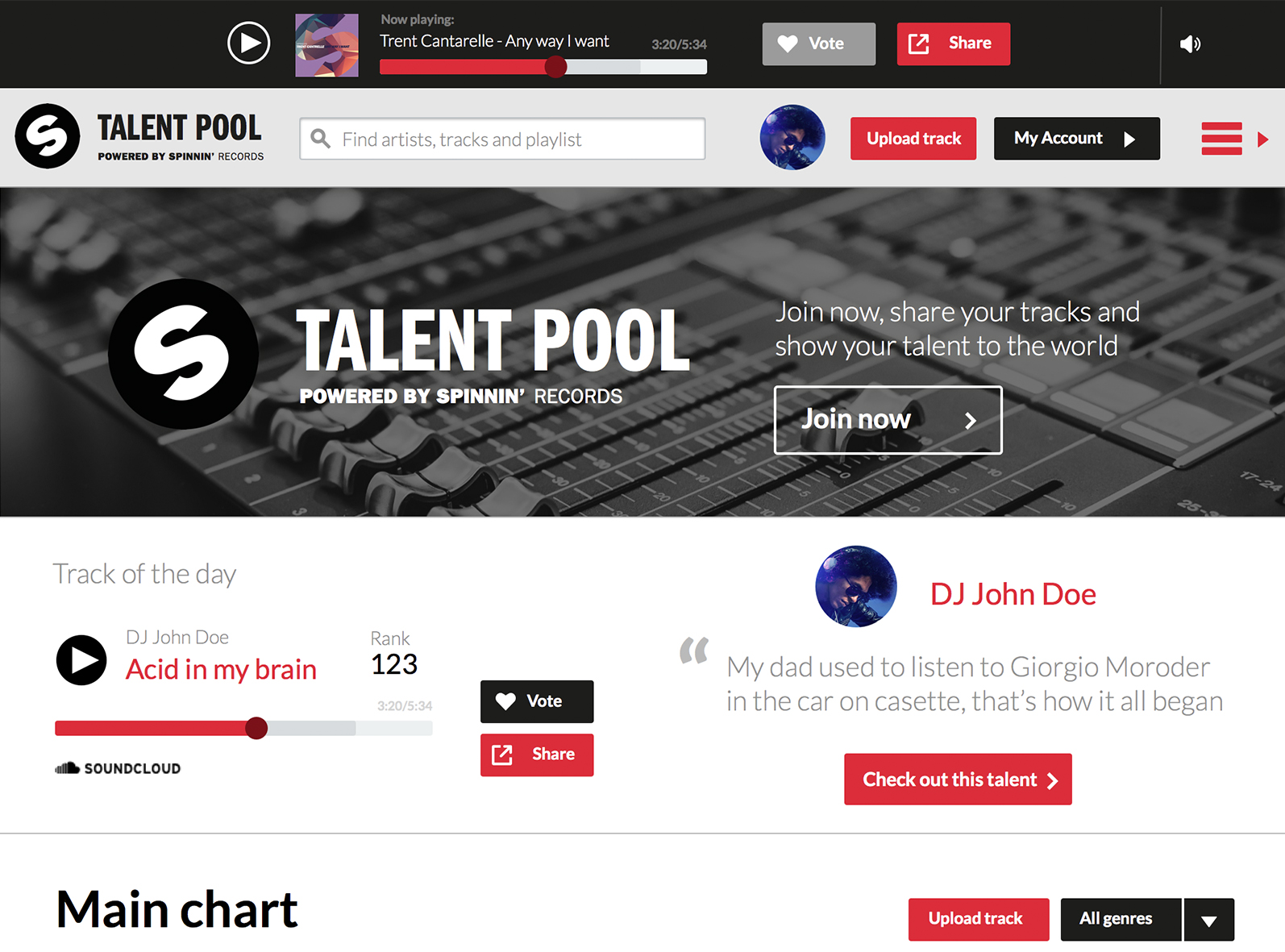 give you 100 Spinnin Records Talent Poll Votes from real USA people