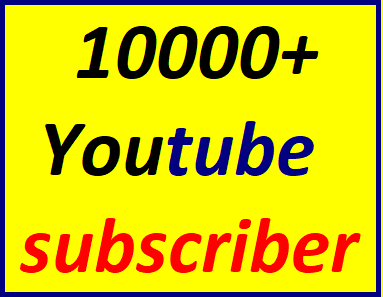 10k/10,000+You'tube channel subscriber non drop very fast delivery Just