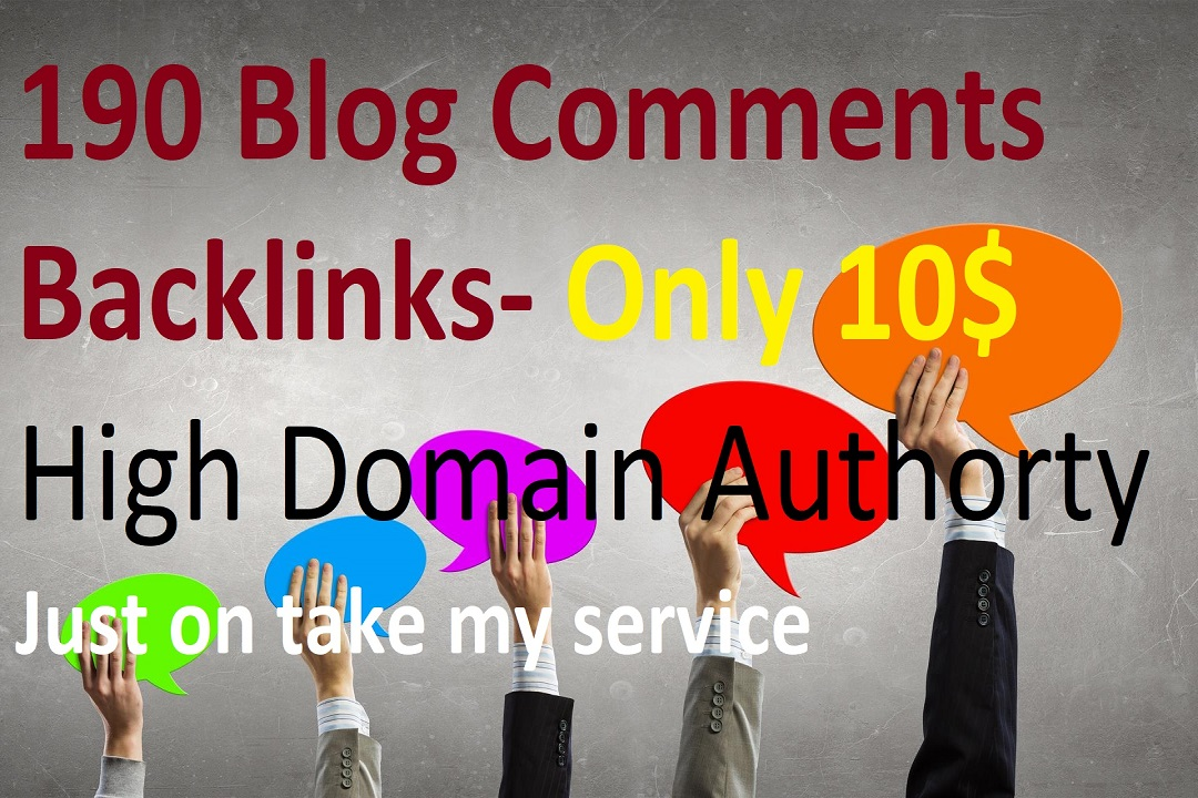 Submit 190 Blog Comments High Quality