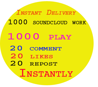 300 likes or 250 followers or 50+ USA Real Custom Soundcloud Comments to your track